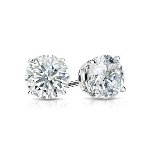 Beautiful Diamond simulant brilliant cut 1.5 carat earrings by Desert Diamonds