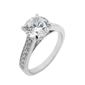 High quality cubic zirconia sterling silver925 white gold plating life time guarantee for all our stone please contact Sally Cowley +66818063501
