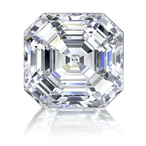 Royal Asscher cut diamond simulant stone which comes in 3.5, 4, 6 and 9 carat ranging from 4,180 baht to 5,200 baht. Contact us at Desert Diamonds +66 2655 5977 to purchase