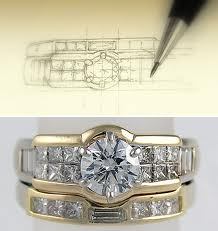 diagram depicted a ring bespoke design