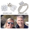 Norwegian couple at the great wall of China and an two photos of desert diamonds jewelry, and cheap diamond ring and cheap diamond earrings