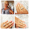 monica bartz featured with 3 other images of hands proudly showing off her desert diamonds rings