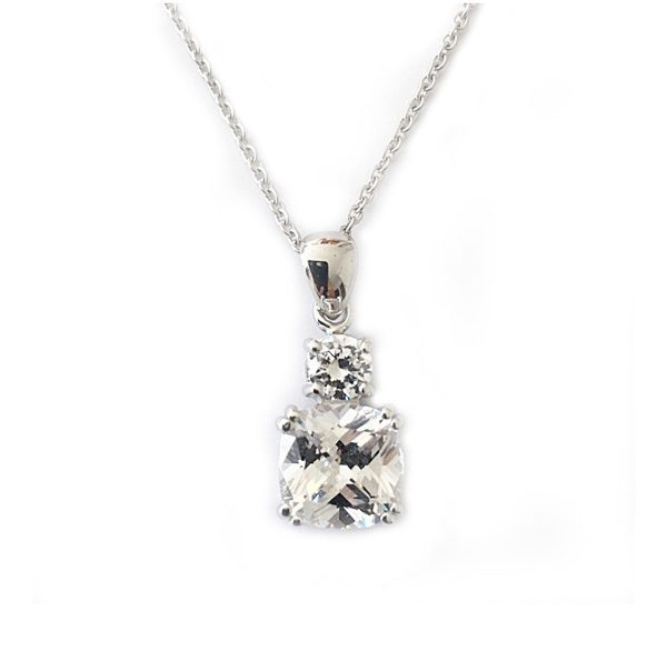 Clasp pendant archives desert diamonds jewelry meghan markle inspired diamond simulant drop pendant featuring a large cushion cut diamond simulant stone with mozeypictures