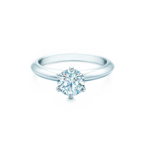 tiffany inspired 6 prong solitaire diamond ring