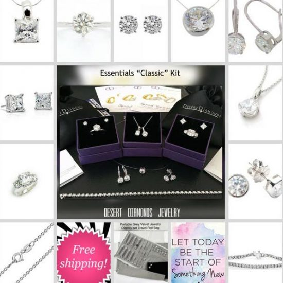 diamond jewelry promotional set of 10 pieces of diamond jewelry including rings, earrings and pendants