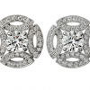 Cartier inspired vintage earrings worn by Meghan Markle on Wedding Day