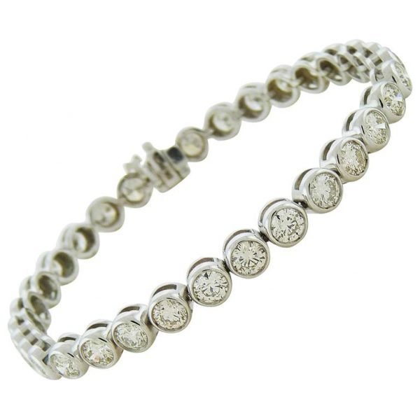Diamond-Simulant-Bezel-Set-Tennis-Bracelet