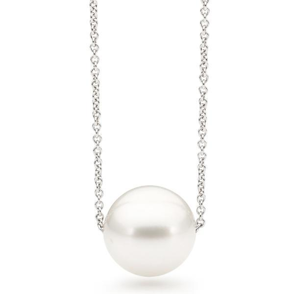 Modern White Fresh Water Pearl Float Necklace