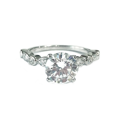 solitaire engagement ring with stylish band