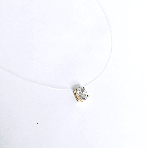 P0314-AGY - Stunning Oval Cut Float Pendant