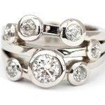 Sparkling diamonds bubble Ring