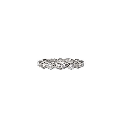 Swing Jazz Eternity Diamond Simulant Ring