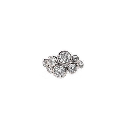 Sparkling Diamond Simulant Bubble Ring