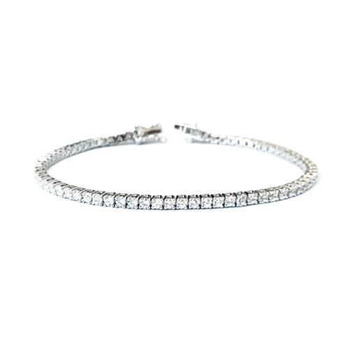 Tennis bracelet-sterling silver-gift