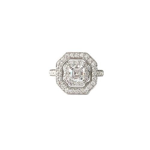 Asscher cut-halo-engagement-ring-silver