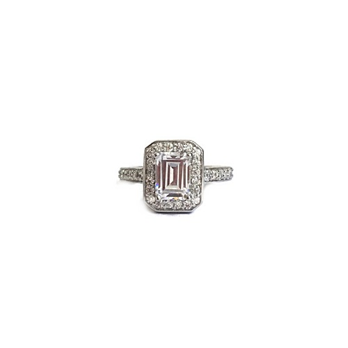 Emeraldcut-halo-ring-silver-gold